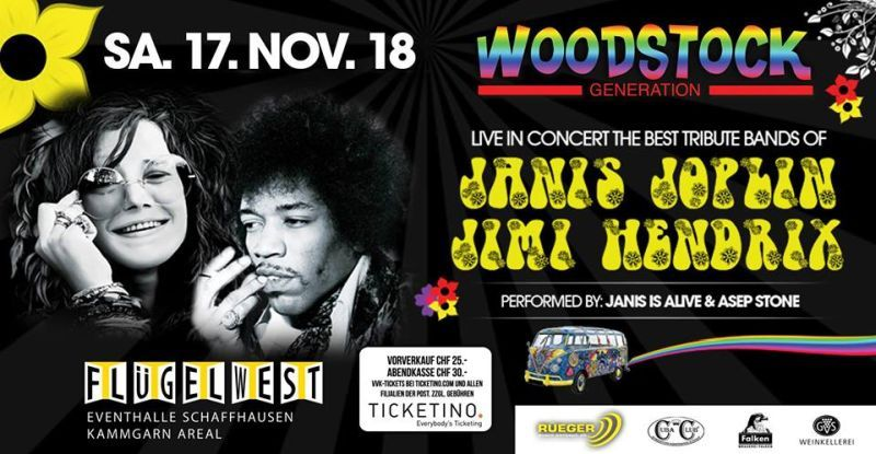 Woodstock Generation Live Concert – Tribute Band of JANIS & JIMI