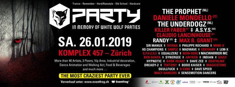 In Memory of White wolf Parties - trance, hardstyle, techno
