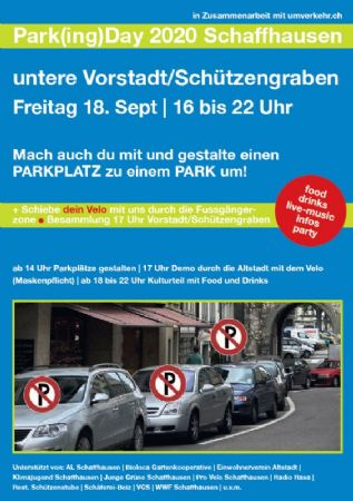 Velodemo und Parking day